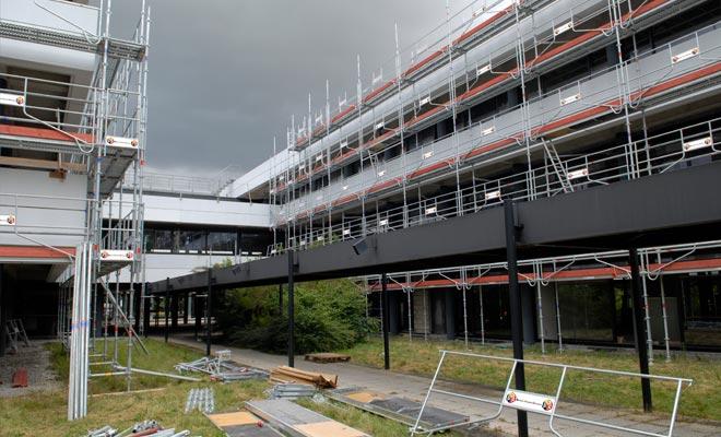 Montigny Nissan – façades pendant les travaux